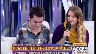 George, românul care s-a născut fără mâini,  și-a răsfățat soția!