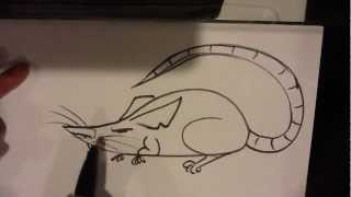 How to Draw a Rat - Easy Drawings