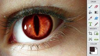 Naruto Ninetails Eyes Photoshop Edit Ninetailed Fox Kurama