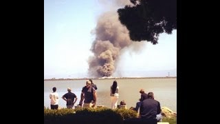 Boeing 777 by Asiana Airlines crashed in San Francisco Airport July 6 2013 SF SFO Flight ...