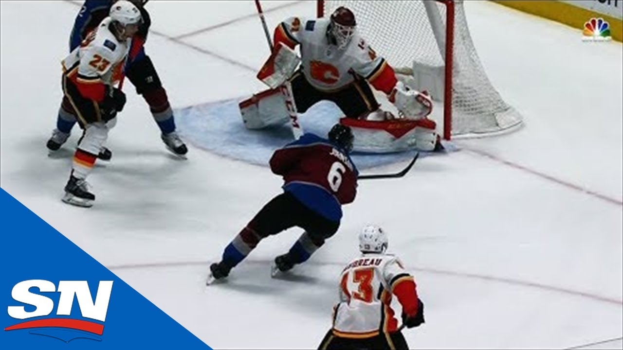 Mike Smith Sprawls To Make Nice Reaction Save On Erik Johnson
