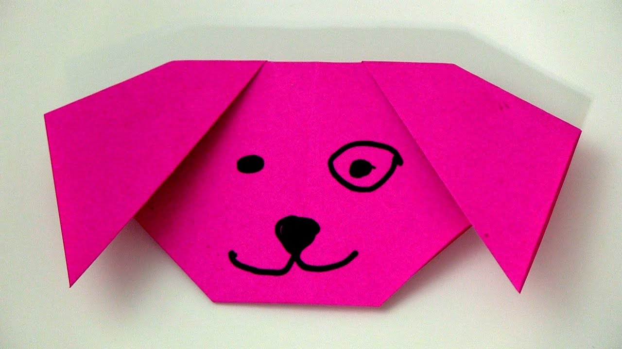 Origami dog face how to origami - Origami Dog Face How To Origami 2