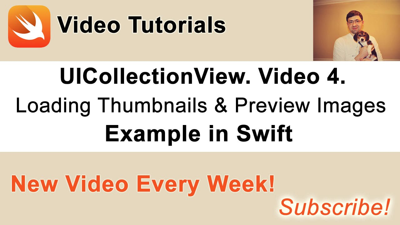 UICollectionView example in Swift  Load thumbnail & preview images