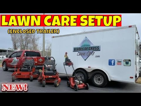 TRAILER SETUP 2019 | LAWN CARE ENCLOSED TRAILER