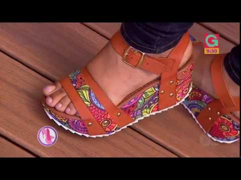 Sandalias con un novedoso estilo