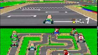 Super Mario Kart custom tracks-Flower Cup