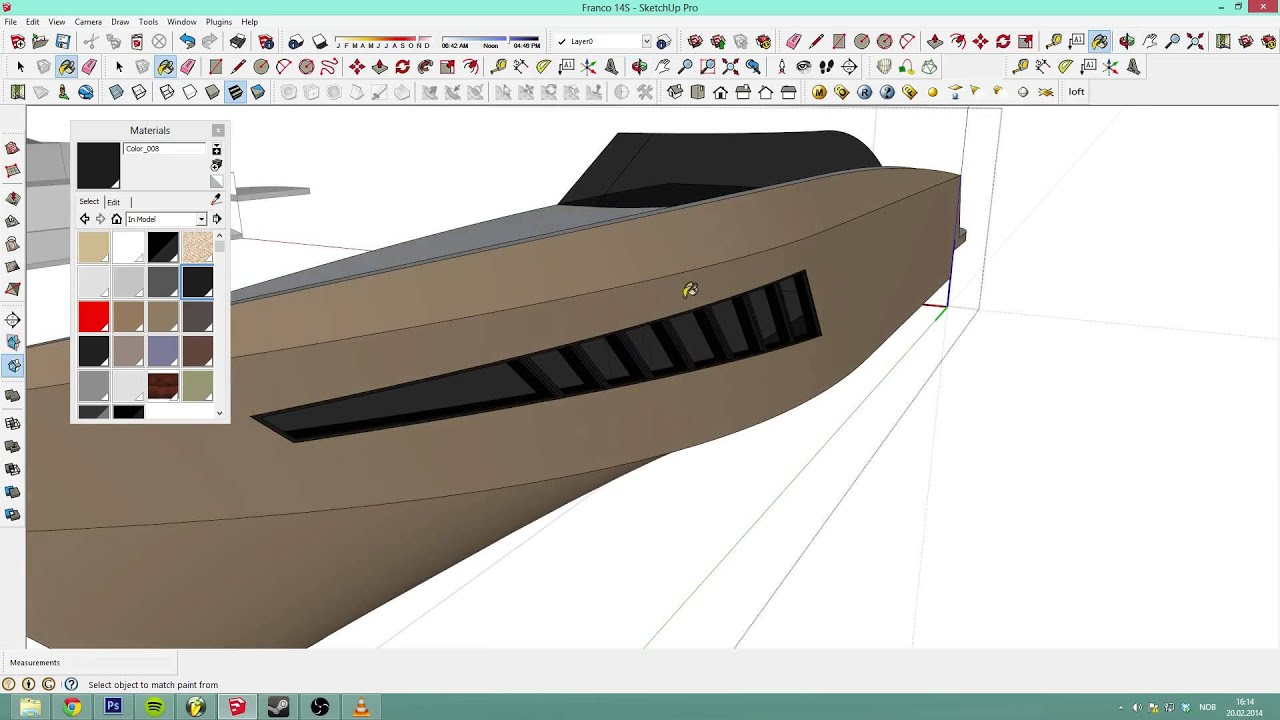 Sketchup 2013 detailed boat tutorial with mic ep 3 for Sketchup 2013