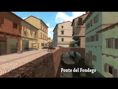 Ricostruzione in 3D del Canale di Reno a Bologna nel XVII secolo