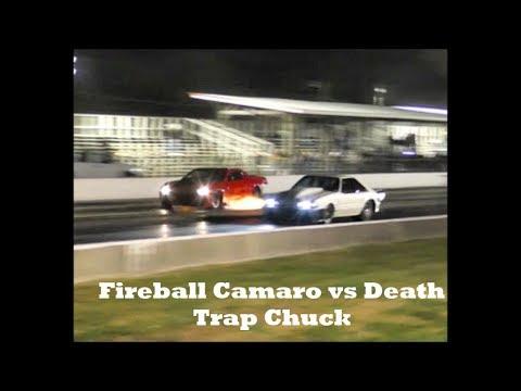 Death Trap Chuck vs Fireball Camaro at the Kentucky Street Outlaws Live no prep