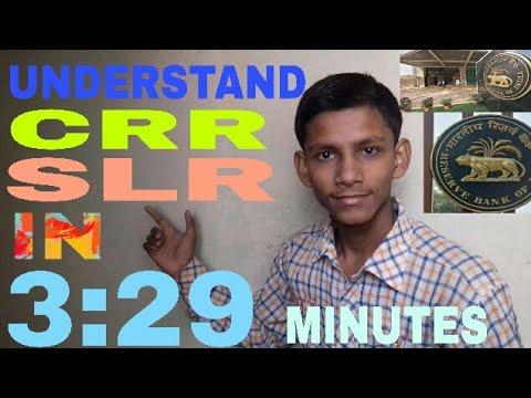 CASH  RESERVE  RATIO  (CRR) AND   STATUTORY  LIQUIDITY  RATIO  (SLR)