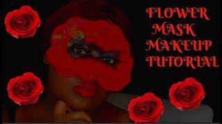 FLOWER MASK MAKEUP makeup tutorial thomas halbert mua beauty trend drama cosmetics