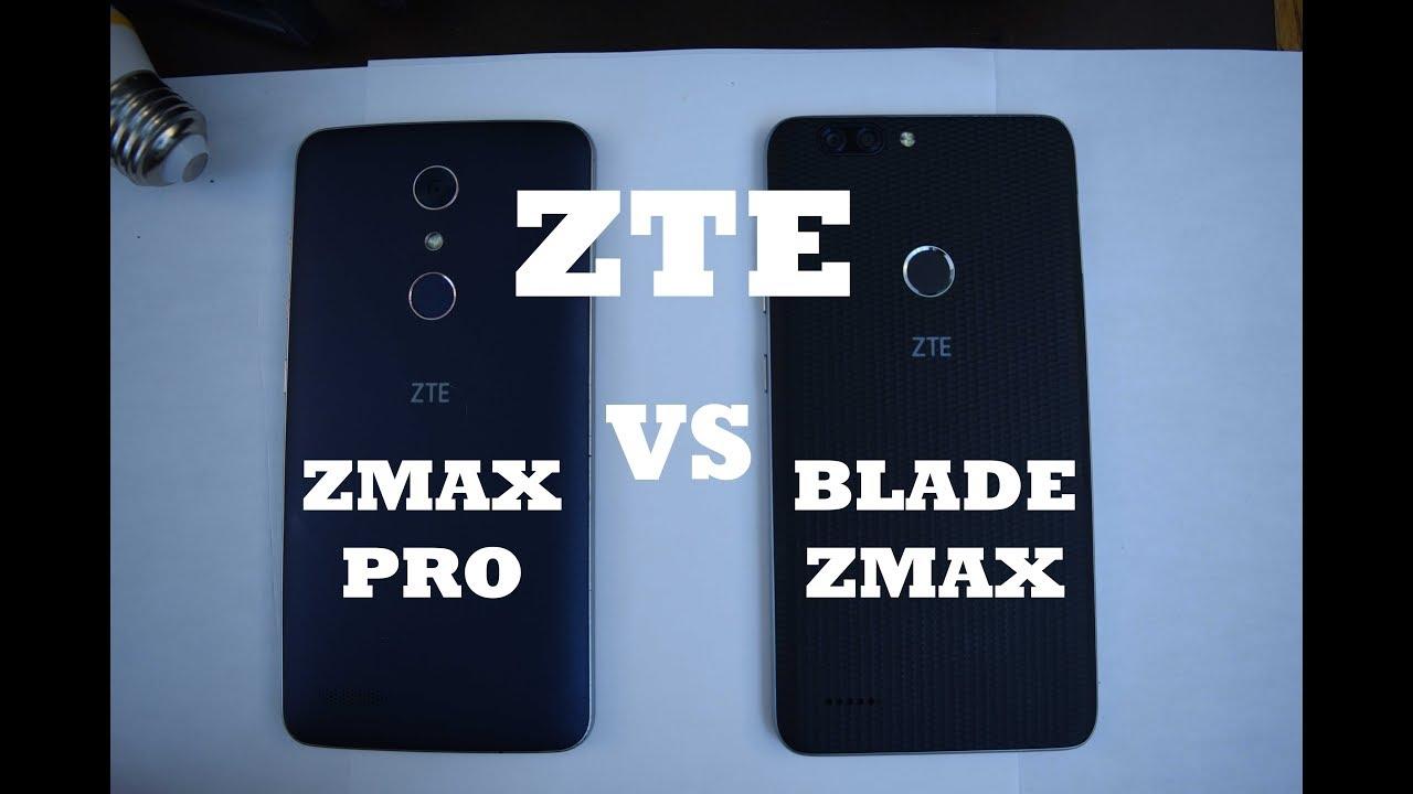 ZTE Blade Zmax VS ZTE Zmax Pro - YouTube