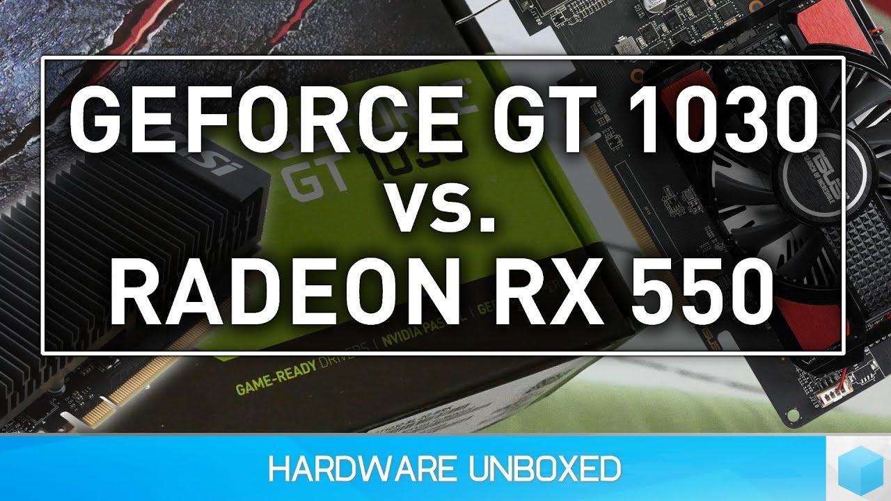 Esports Benchmark: GeForce GT 1030 vs  Radeon RX 550