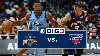 BIG3 Playoffs | 3 Headed Monsters vs. Triplets | Full Game Cutdown