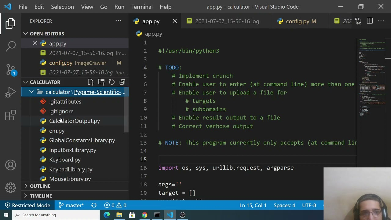 Python 3 PyGame Advanced Scientific Calculator GUI Desktop App Full Project For Beginners