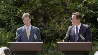 Nick Clegg on coalition government