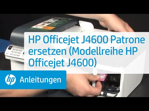 hp officejet j4600 patrone ersetzen modellreihe hp officejet j4600 youtube. Black Bedroom Furniture Sets. Home Design Ideas
