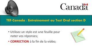 TEF CANADA : Préparation 1 au Test de Compréhension Orale section D