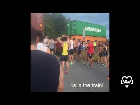 Freight Train Stops Marathon in Lehigh Valley, Pennsylvania