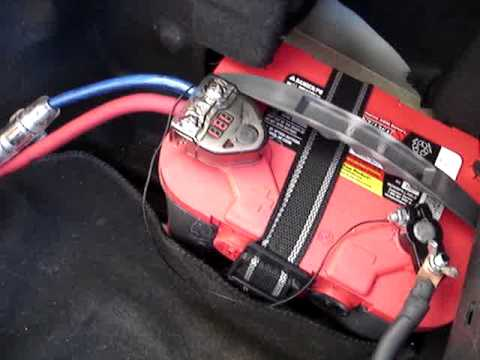 hqdefault 89 honda prelude battery relocation and the big 3 youtube big 3 fuse between alternator and battery at bayanpartner.co