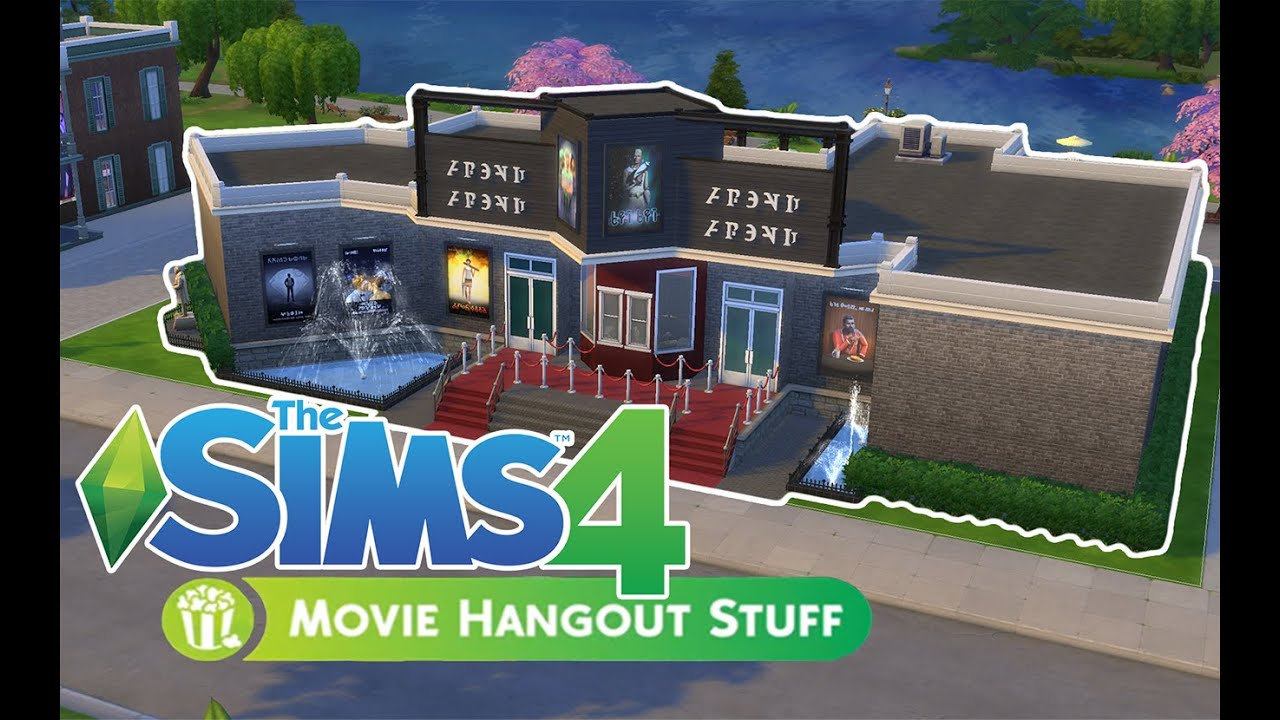 The Sims 4 House Building | Movie Theatre | Movie Hangout Stuff ...