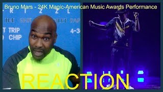 Bruno Mars - 24K Magic [American Music Awards Performance]-REACTION