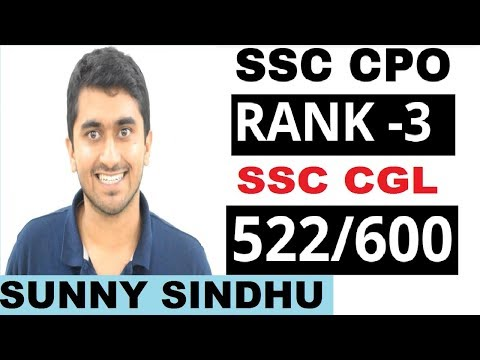 SSC CPO RANK -3 SUNNY SINDHU || CGL 522/600 || Preparation Strategy || BOOKLIST