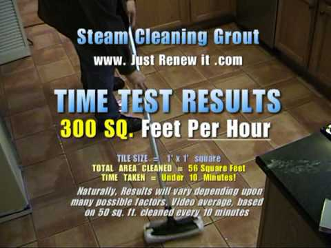 clean grout with a steam cleaner u003d vapor steam cleaner how fast training video youtube