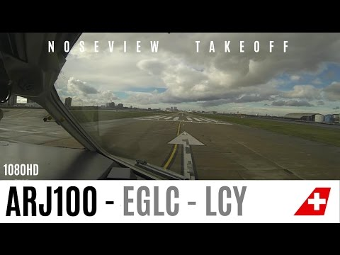 Watch this Cockpit Takeoff at London City Airport!