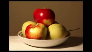 """Как нарисовать яблоки. """"Теория одной краски."""" Диапазон."""