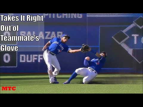 MLB Stealing Catches From Their Teammate Compilation