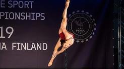 Anna-Maija Nyman POSA Pole Sport World Championships 2019