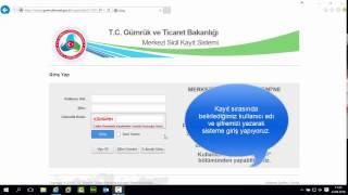 TURKTRUST Merkezi Sicil Kayıt Sistemi (MERSİS) E-İmza Kullanımı
