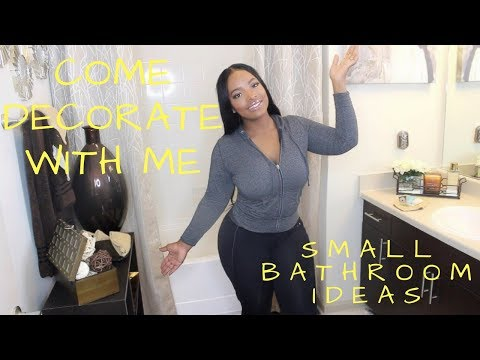 Interior Design | Small Bathroom Makeover | Affordable Decorating Ideas