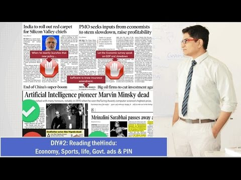 7 Days Duty: How to read theHindu (Part2)- Economy, Business, Sports, PIN, Life