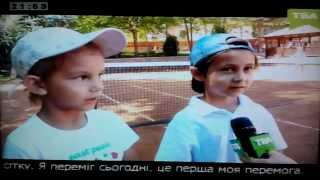 Репортаж ТВА о детских соревнованиях в теннисном клубе ACE, Черновцы