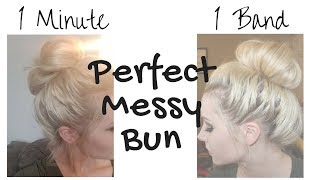 The PERFECT 1-minute, 1-band messy bun