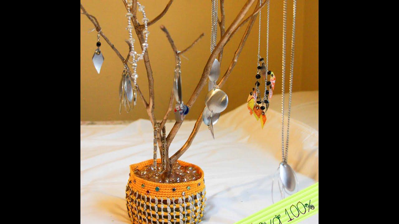 Como hacer un arbolito joyero proyecto de reciclaje - Como decorar un joyero de madera ...