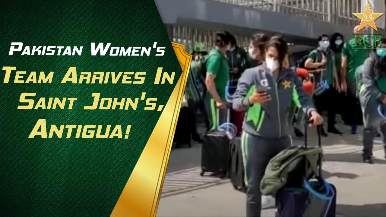 🛬 Pakistan Women's Team Arrives In Saint John's, Antigua!
