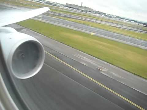 Aa Boeing 777 Takeoff Full Power Take Off Intense Youtube
