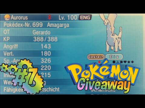 Shiny Aurorus Giveaway - Pokémon GTS COLLABORATION Giveaway #7 (X&Y/ORAS) [Opened]