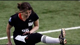 Female Kicker Tries Out For The NFL