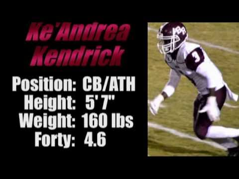2016-'Street Light Recruiting' CB- Ke'Andrea Kendrick -Benjamin Russell High School (Alex City, AL)