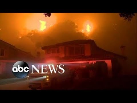LIVE Crews continue to battle massive wildfires in California   Wednesday, 6 December 2017