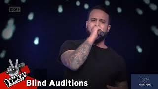Κωνσταντίνος Κυριάκου - Somebody told me | Audio Official | Blind Audition | The Voice of Greece