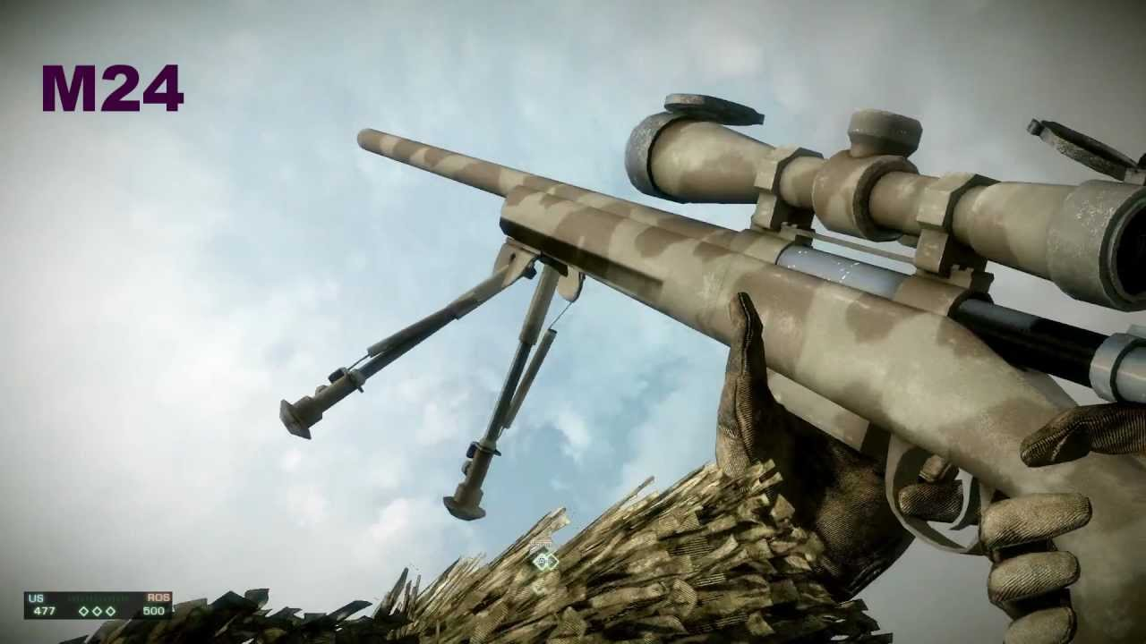 Battlefield Bad Company 2 All Weapons In Slow Motion [DX ...