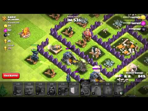 Clash of Clans th8 attack without golems
