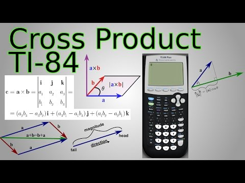 Ti-84 Cross Product Program & Dot Product for Vectors (Triple Scalar Product)