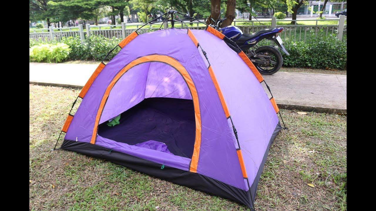 Review lều du lịch cắm trại tự bung Lou Lang – 2 người