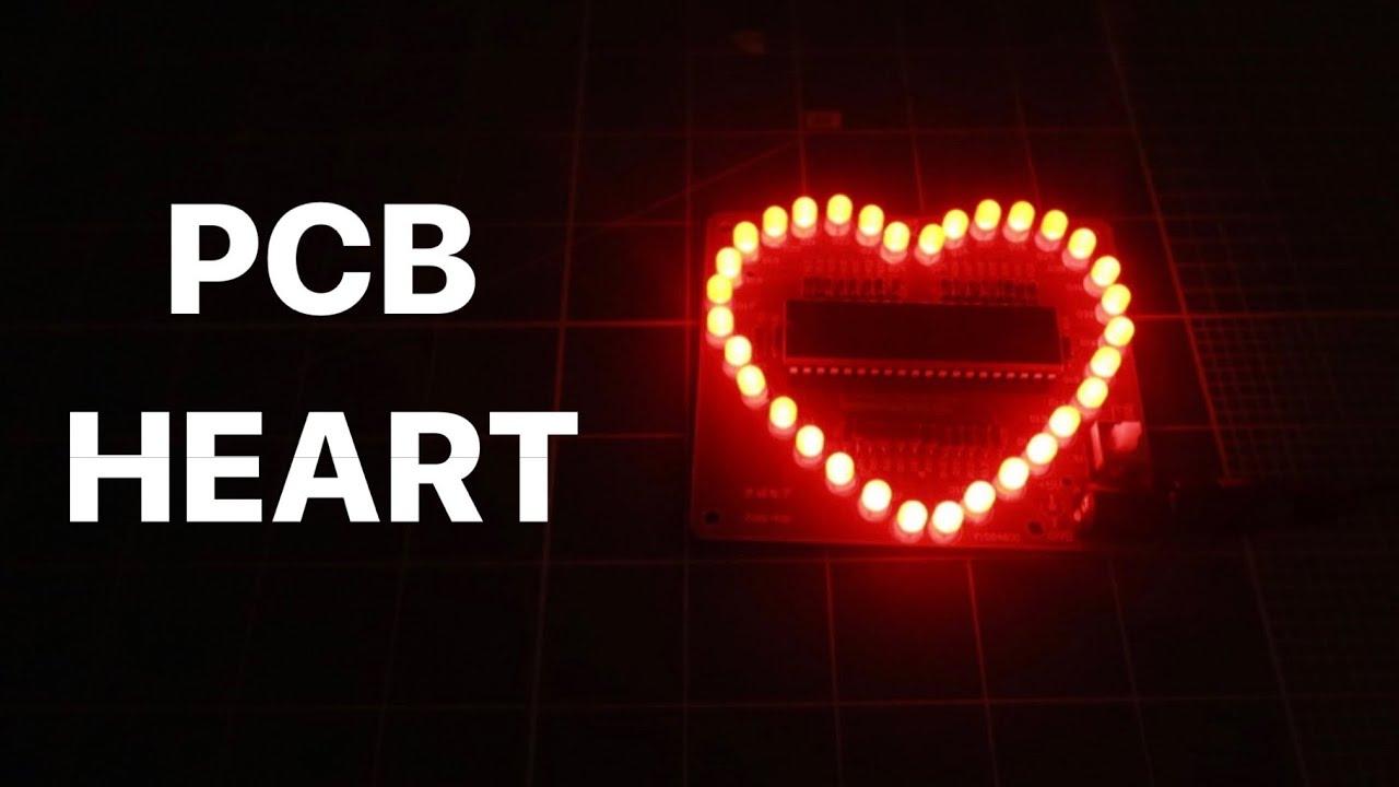 Corazon LED con Microcontrolador ! NO ARDUINO -